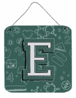 Letter E Back to School Initial Wall or Door Hanging Prints - 6HX6W