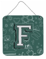 Letter F Back to School Initial Wall or Door Hanging Prints