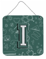 Letter I Back to School Initial Wall or Door Hanging Prints - 6HX6W