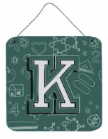 Letter K Back to School Initial Wall or Door Hanging Prints - 6HX6W