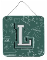 Letter L Back to School Initial Wall or Door Hanging Prints - 6HX6W