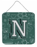 Letter N Back to School Initial Wall or Door Hanging Prints