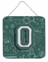 Letter O Back to School Initial Wall or Door Hanging Prints