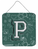 Letter P Back to School Initial Wall or Door Hanging Prints