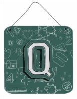 Letter Q Back to School Initial Wall or Door Hanging Prints