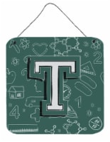 Letter T Back to School Initial Wall or Door Hanging Prints