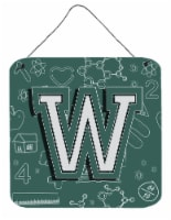 Letter W Back to School Initial Wall or Door Hanging Prints - 6HX6W