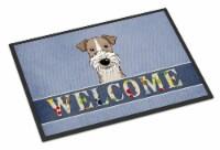 Wire Haired Fox Terrier Welcome Indoor or Outdoor Mat 24x36 - 24Hx36W