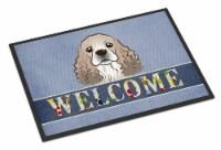 Cocker Spaniel Welcome Indoor or Outdoor Mat 18x27 - 18Hx27W