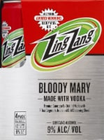 Zing Zang Bloody Mary Cocktails - 4 cans / 12 fl oz