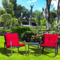 3 PC Rocking Bistro Set Patio Furniture(Red) - 1 set