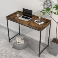 43 Inches Modern Industrial Computer Desk Wood Rustic Furniture for Home Office - 1 SET