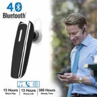 Trucker Headsets Mini Single Wireless Bluetooth Earbuds Headphone In Ear Hook - 1