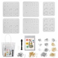 366pcs Silicone Earring Necklace Pendant Mold Resin Casting Molds Jewelry Making - 1