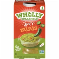 Wholly Guacamole Spicy Guacamole Minis 6 Count