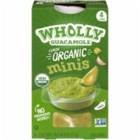 Wholly Guacamole Organic Guacamole Minis 4 Count