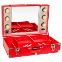 SHANY Studio To Go Tabletop Makeup Station - Red - 1 Each