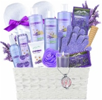 Lavender Spa Gift Basket by Purelis - Aromatherapy Spa Kit for Women - 1