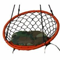 Lea Unlimited Round Microfiber Small Dreamcatcher Swing Cushion in Camo - 1
