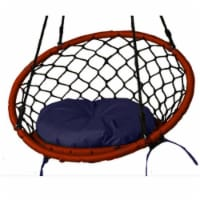 Lea Unlimited Round Microfiber Small Dreamcatcher Swing Cushion in Navy Blue - 1