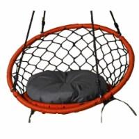 Lea Unlimited Round Microfiber Small Dreamcatcher Swing Cushion in Gray - 1