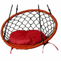 Lea Unlimited Round Microfiber Small Dreamcatcher Swing Cushion in Red - 1