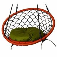 Lea Unlimited Round Microfiber Small Dreamcatcher Swing Cushion in Green - 1