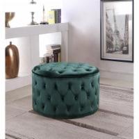 Chic Home FON9073-US Modern Contemporary Adna Ottoman, Green - 19 x 31 x 31 in. - 1