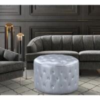 Chic Home FON2999-US Modern Contemporary Tosh Ottoman, Silver - 19 x 31 x 31 in. - 1