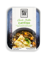 Wild Side Garlic Butter Catfish with Barley - 12 oz