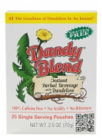 Dandy Blend Instant Herbal Beverage with Dandelion Pouches
