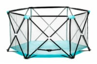 Regalo My Play 6-Panel Portable Play Yard - Aqua