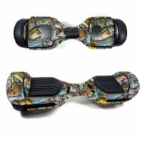 MightySkins SWT580-Action Fish Puzzle Skin Decal Wrap for Swagtron T580 Hoverboard Sticker -