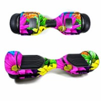 MightySkins SWT580-Colorful Flowers Skin Decal Wrap for Swagtron T580 Hoverboard Sticker - Co