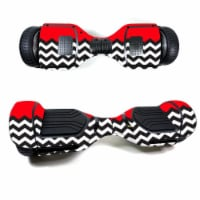 MightySkins SWT580-Red Chevron Skin Decal Wrap for Swagtron T580 Hoverboard Sticker - Red Che - 1