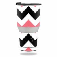 MightySkins RTTUM2017-Black Pink Chevron Skin for RTIC 20 oz Tumbler 2017 - Black Pink Chevro - 1