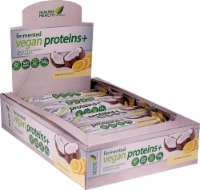 Genuine Health Fermented Vegan Proteins+ Lemon Coconut Flavor Digestive Support Protein Bars