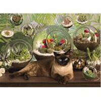 Outset Media Games OM80049 Terrarium Cat Puzzle, 1000 Piece - 1000