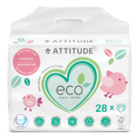 Attitude Newborn Baby Diapers - 28 ct