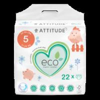 Attitude Junior Baby Diapers - 22 ct
