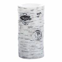 Inglow Birch Pillar Candle  - White
