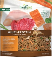 Freshpet Multi-Protein Chicken Beef Egg & Salmon Recipe Dog Food