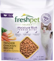 Freshpet Select Moisture Rich Tender Chicken Recipe Bites with Garden Vegetables Cat Food