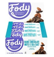 Fody Foods  Food Bars Low Fodmap   Dark Chocolate Nuts & Sea Salt