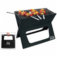 BBQCroc Compacting Portable 19 Inch Steel Barbecue Cooking Grill with Travel Bag - 1 Unit