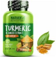 NATURELO Turmeric & Ginger Extract with Bioperine Dietary Supplement Capsules - 120 ct