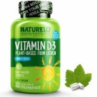 NATURELO Plant-Based Vitamin D3 Capsules 180 Count