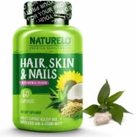 NATURELO Hair Skin & Nails with Biotin and Collagen Capsules