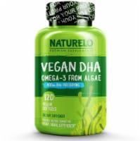 NATURELO Vegan DHA Omega-3 Vegan Softgels - 120 ct