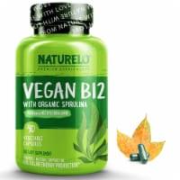 NATURELO Vegan B12 with Organic Spirulina Vegetable Capsules